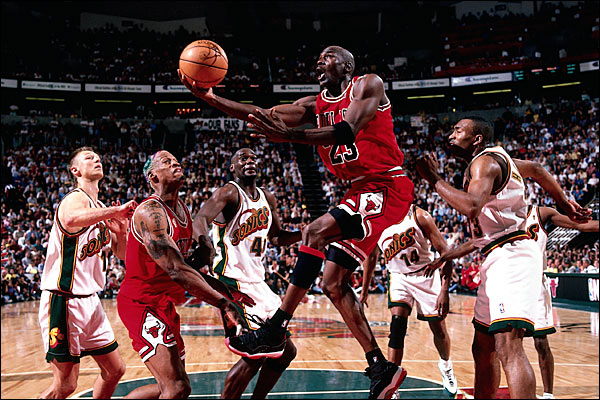 Michael Jordan 1996 NBA Finals Chicago Bulls Seattle SuperSonics Sonics