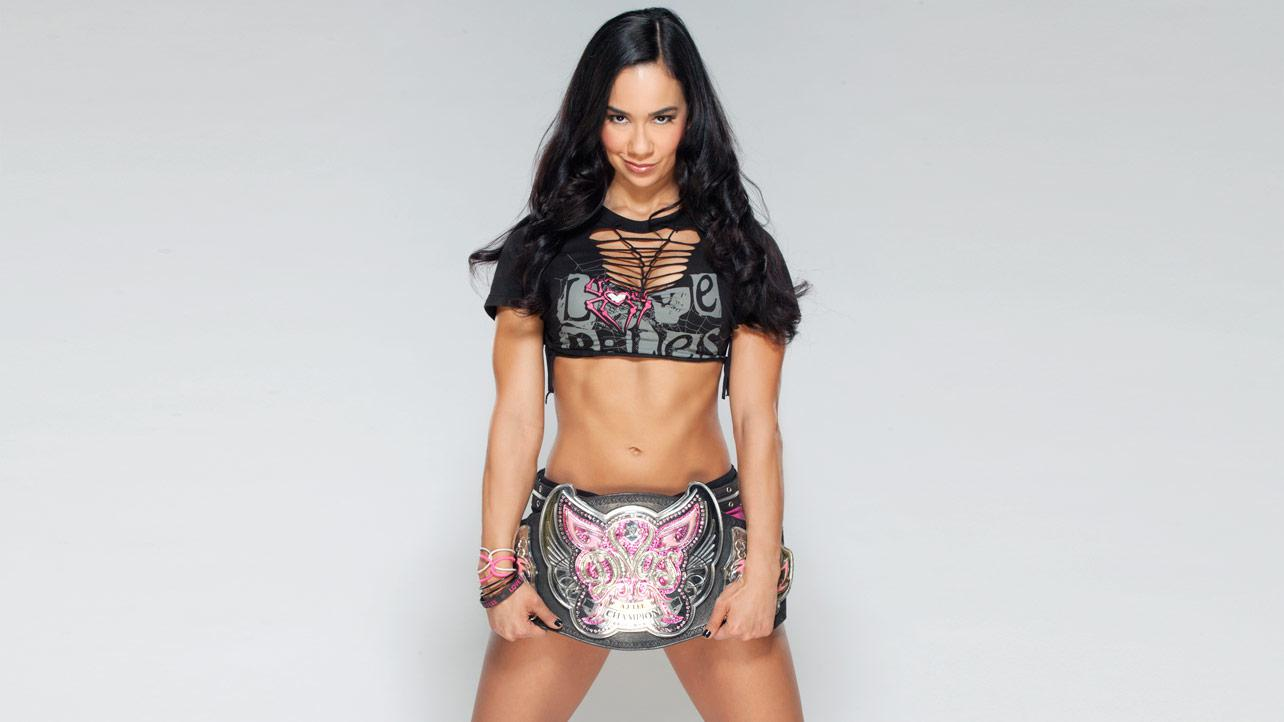 AJ Lee Divas championship photo shoot