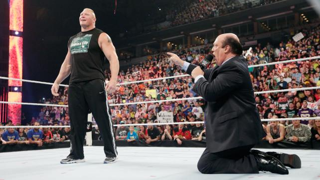 Brock Lesnar Paul Heyman homecoming
