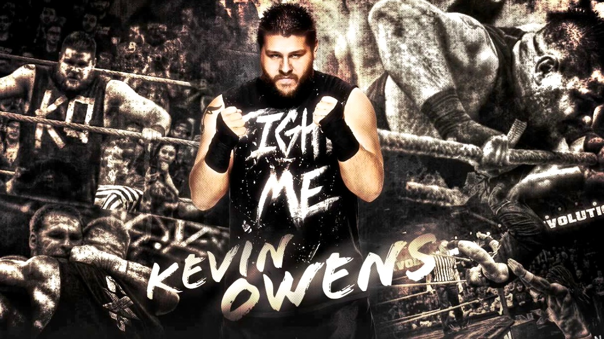 Kevin Owens Fight Me collage