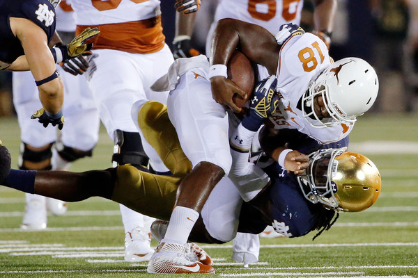 Tyrone Swoopes sack Texas Longhorns Notre Dame Fighting Irish