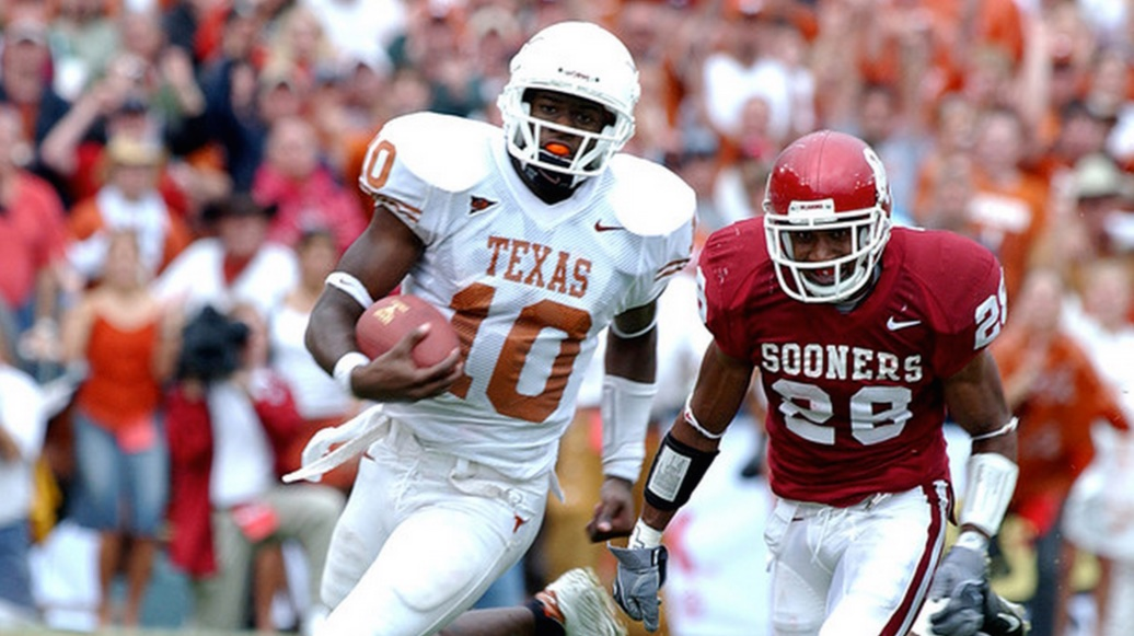 Vince Young Texas Longhorns Oklahoma Sooners 2004